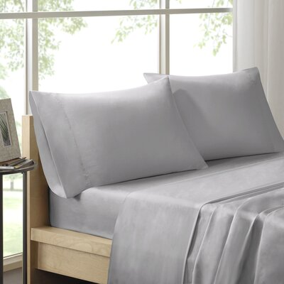Elona 300 Thread Count Pima Cotton Sheet Set Size: Queen, Color: Silver