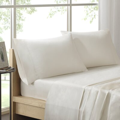 Virgile 300 Thread Count Pima Cotton Pillowcase Size: King, Color: Ivory
