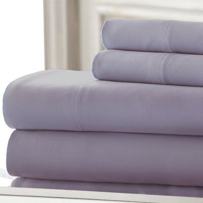 Iris 600 Thread Count 4 Piece Sheet Set Size: Queen, Color: Lavender