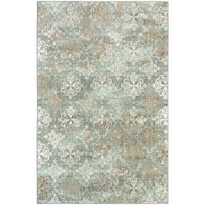 Bourges Blue Rug Rug Size: 8 x 11
