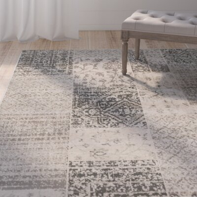Jerome Charcoal & Beige Area Rug Rug Size: Rectangle 28 x 5