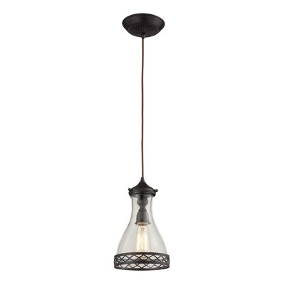 Laferte 1-Light Mini Pendant Finish: Oiled Bronze