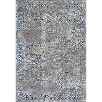 Avallon Faded Dark Blue Area Rug Rug Size: Rectangle 9 x 12