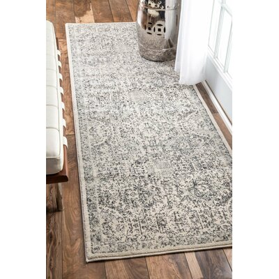 London Gray Area Rug Rug Size: Runner 28 x 8
