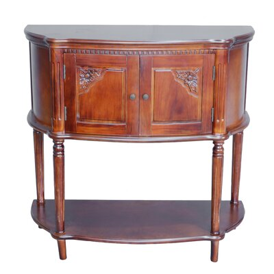 Georgina Hand Carved 2-Tier Console Table Finish: Stain
