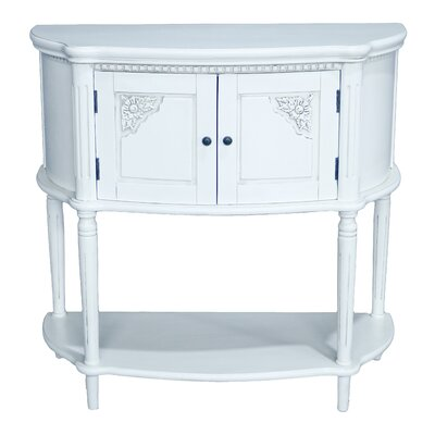 Georgina Hand Carved 2-Tier Console Table Finish: Antique White