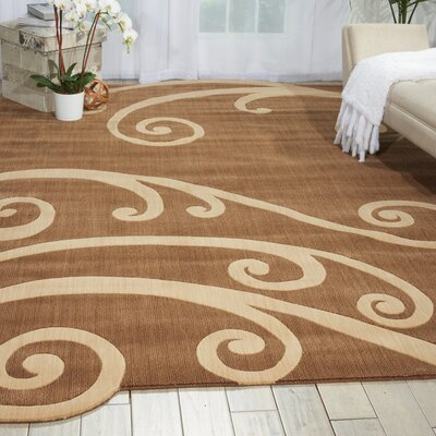 Baume Chocolate Area Rug Rug Size: 79 x 1010