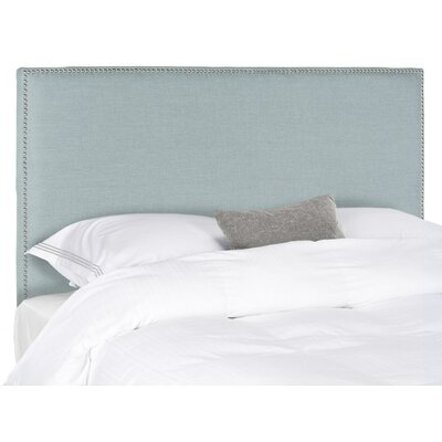 Farringdon Upholstered Wingback Headboard Size: Full, Color: Sky Blue, Upholstery: Polyester