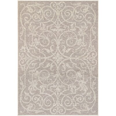Peralez Cocoa/Natural Indoor/Outdoor Area Rug Rug Size: 5'3