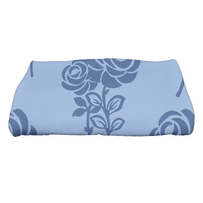 Carmen Floral Bath Towel Color: Blue