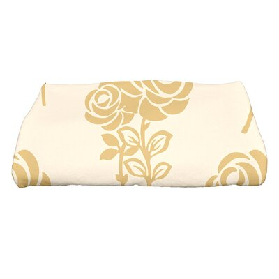 Carmen Floral Bath Towel Color: Gold