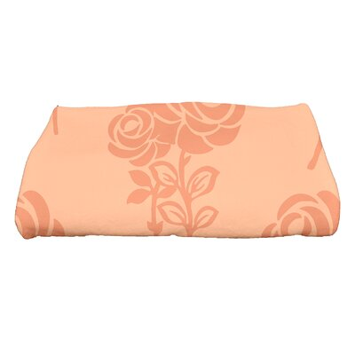 Carmen Floral Bath Towel Color: Peach