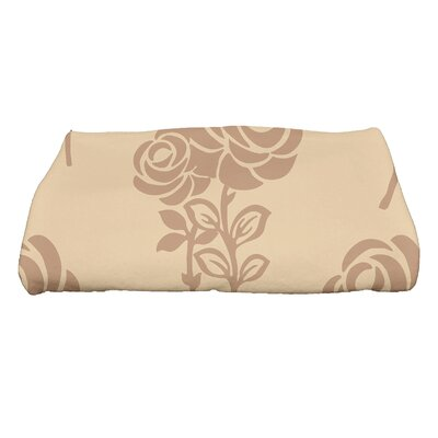Carmen Floral Bath Towel Color: Beige/Taupe