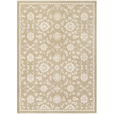 Arabi Brown Area Rug Rug Size: 92 x 129