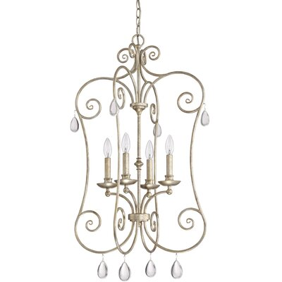 Montmiral Vintage Gold 4-Light Foyer Pendant
