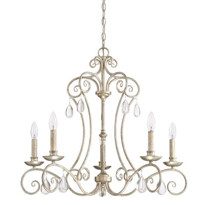 Montmiral Vintage Gold 5-Light Candle-Style Chandelier
