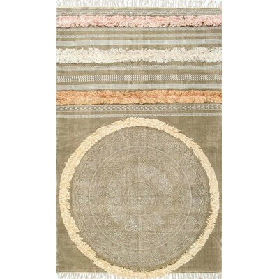 Ornellas Taupe Indoor/Outdoor Area Rug Rug Size: 76 x 96
