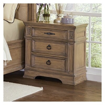 George 3 Drawer Nightstand