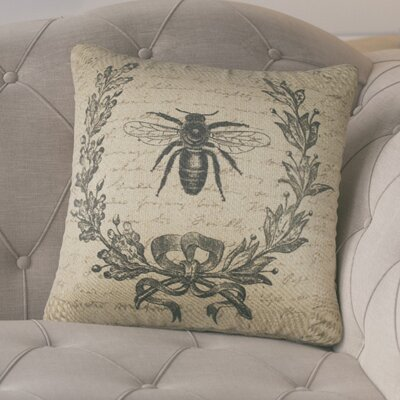 Tiago Crest Burlap Throw Pillow