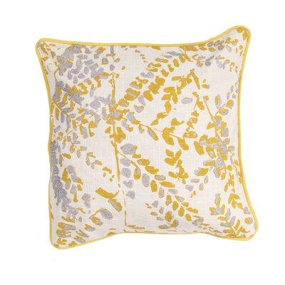Oropeza Floral Cotton Throw Pillow Color: Yellow / Grey