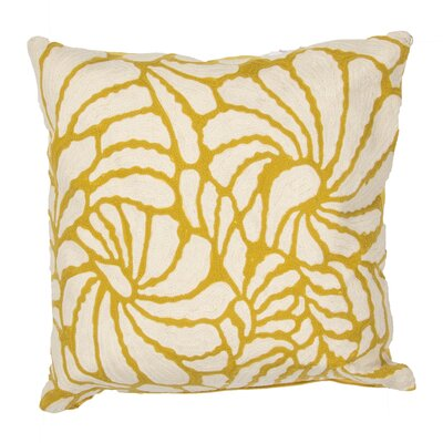 Oropeza Floral Cotton Throw Pillow Color: Yellow / Ivory