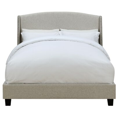 Chambery Shelter Back Queen Upholstered Panel Bed