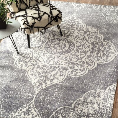 Glenan Hand-Tufted Gray Area Rug Rug Size: Rectangle 4 x 6