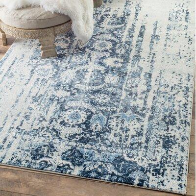 Montagne Blue/White Area Rug Rug Size: Runner 26 x 10