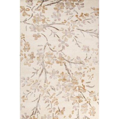 Orpheus Hand-Tufted Ivory/White Area Rug Rug Size: 2 x 3