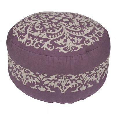 Orsini Floral Cotton Pouf Ottoman