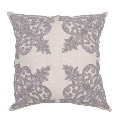 Orsini Floral Cotton Throw Pillow Color: Gray