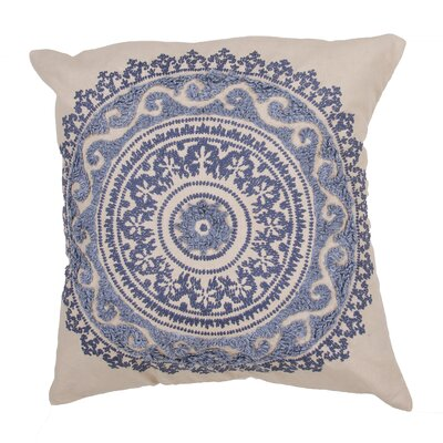 Orsini 100% Cotton Throw Pillow Color: Blue