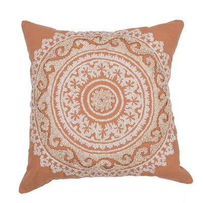 Orsini 100% Cotton Throw Pillow Color: Orange