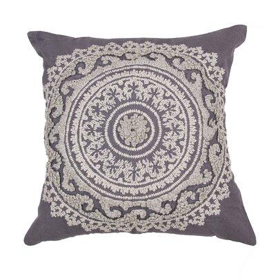 Orsini 100% Cotton Throw Pillow Color: Dark Gray