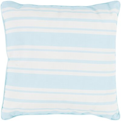 Louisa Outdoor Throw Pillow Size: 20 H x 20 W x 4 D, Color: Teal