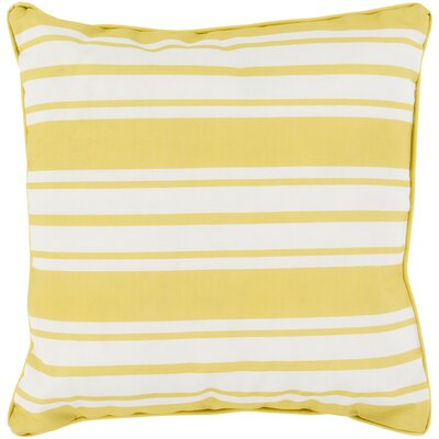 Louisa Outdoor Stripe Pillow Size: 16 H x 16 W x 4 D, Color: Gold