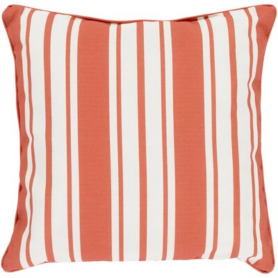 Louisa Outdoor Stripe Pillow Size: 16 H x 16 W x 4 D, Color: Rust