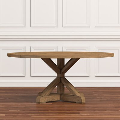 Peralta Round Rustic Dining Table Size: 30 H x 54 W x 54 D