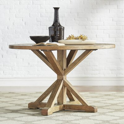 Patricia Round Rustic Dining Table Size: 30 inch H x 48 inch W x 48 inch D