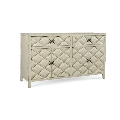 Darcy Sideboard Color: Aged Canvas Weathered Antique White Paint