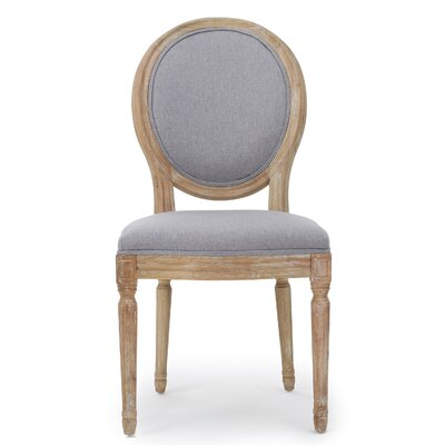 Bluffton Side Chair Upholstery: Light Gray