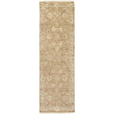 Angela Hand-Knotted Brown Area Rug Rug Size: 79 x 99
