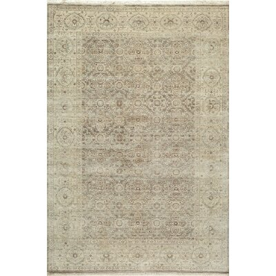 McDonough Hand-Hooked Taupe Area Rug Rug Size: Rectangle 5'6
