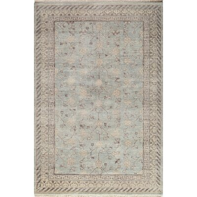 McDonough Hand-Knotted Light Blue Area Rug Rug Size: 56 x 86