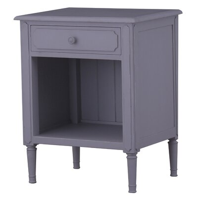 Peraza 1 Drawer Nightstand Finish: Gray Mist