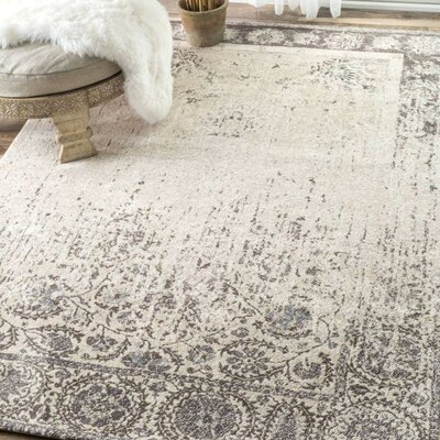 Guerande Beige Area Rug Rug Size: Rectangle 76 x 96