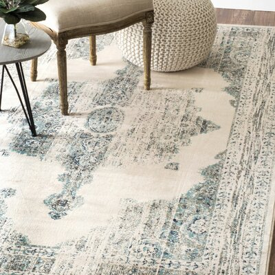 Cypres Ivory Polback Area Rug Rug Size: Rectangle 52 x 8