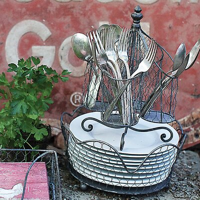Tin and Wire Utensil Holder OAWY6466 34911177