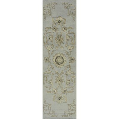 Debord Light Blue Rug Rug Size: Runner 23 x 8