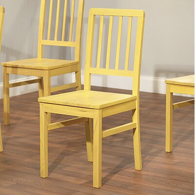 Carolina Solid Wood Dining Chair Finish: Yellow